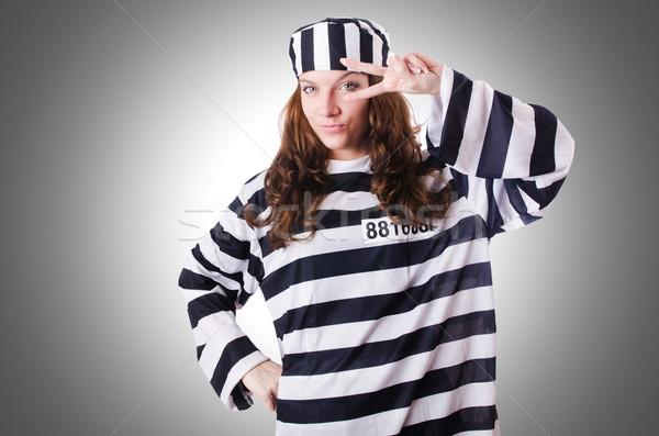 Criminelle rayé uniforme sécurité droit Photo stock © Elnur