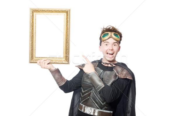 Funny piloto marco de imagen aislado blanco hombre Foto stock © Elnur