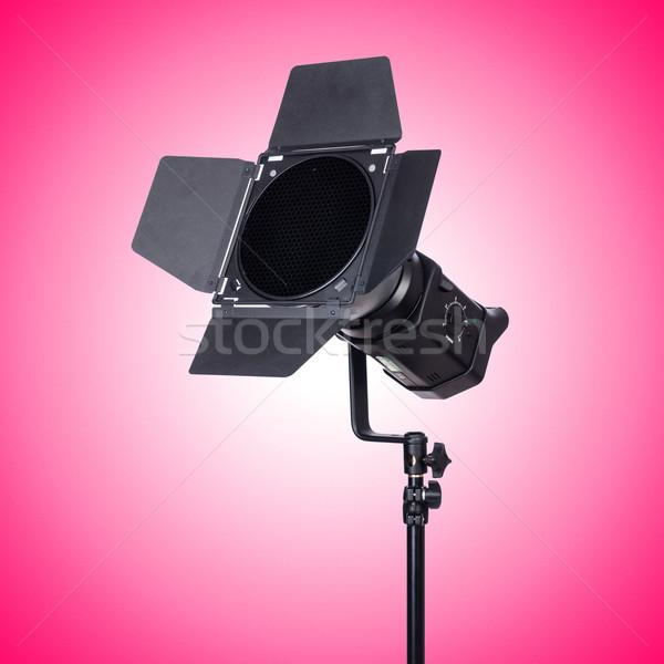 Stüdyo ışık durmak eğim teknoloji lamba Stok fotoğraf © Elnur