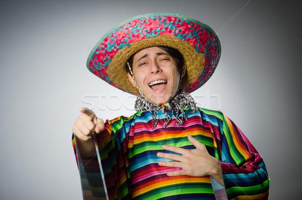 Mann lebendig mexican grau Gesicht Hintergrund Stock foto © Elnur