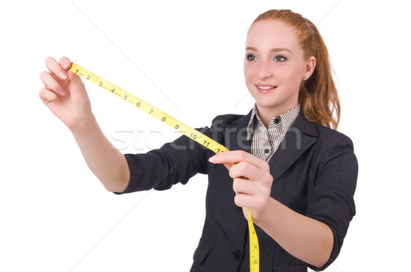 Stock photo: Woman tailor isolated on white