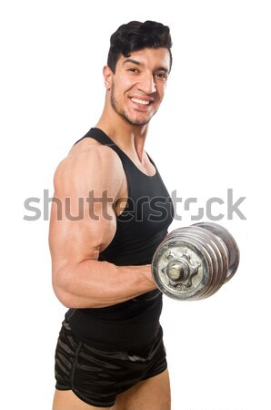 Muscular man isolated on the white background Stock photo © Elnur