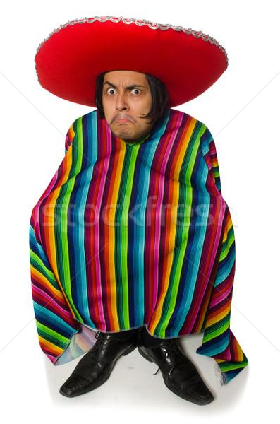 Nago mexican człowiek odizolowany biały nude Zdjęcia stock © Elnur