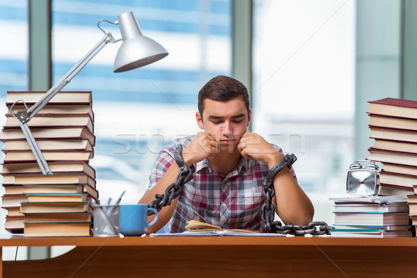 The young man preparing for graduation exams in college Stock photo © Elnur