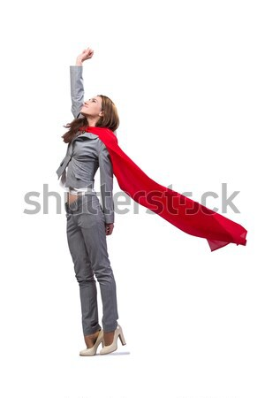 Young superwoman isolated on white Stock photo © Elnur