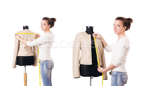 Woman tailor working on dress Stock photo © Elnur