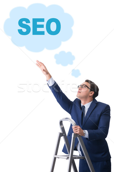 Businessman in SEO search engine optimization concept Stock photo © Elnur
