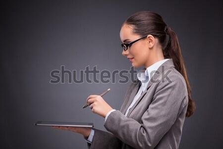 Człowiek komórkowych smartphone odizolowany biały człowiek biały Zdjęcia stock © Elnur