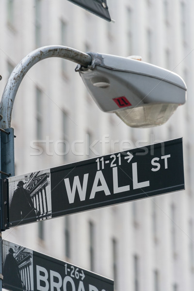 Stock photo: Sign on the Wall Street