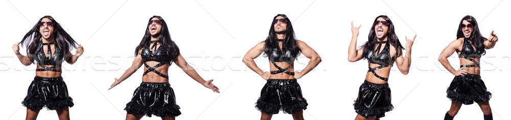 Hombre aderezo mujer vestido moda cruz Foto stock © Elnur