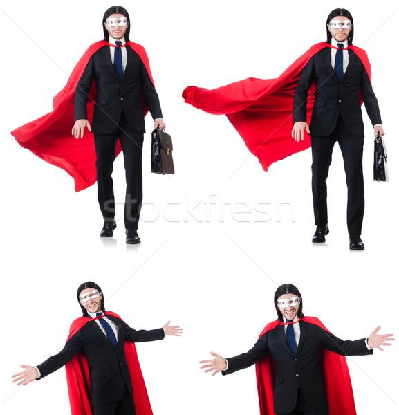 Man Rood dekken geïsoleerd blanke man witte Stockfoto © Elnur