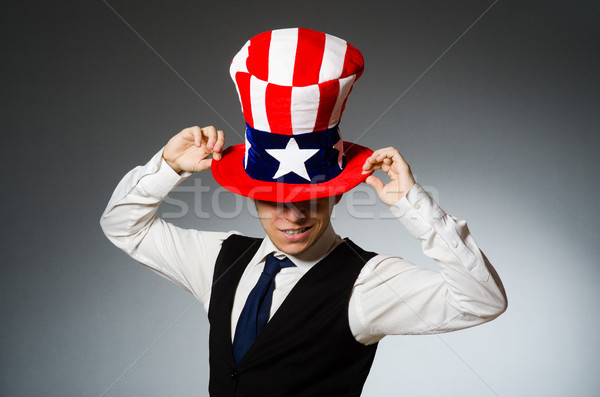 Сток-фото: человека · Hat · американский · работу
