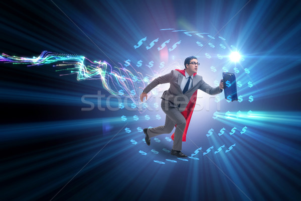 Businessman in hamster wheel chasing dollars Stock photo © Elnur