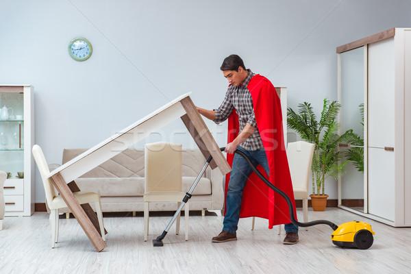 Czystsze pracy domu domu szczęśliwy Zdjęcia stock © Elnur