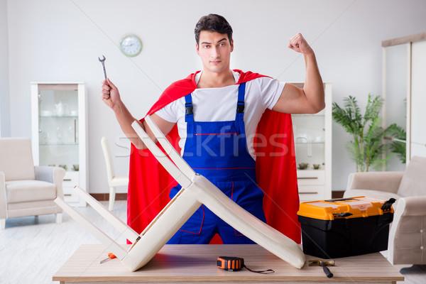 Superhero инструменты ремонта дома человека Сток-фото © Elnur