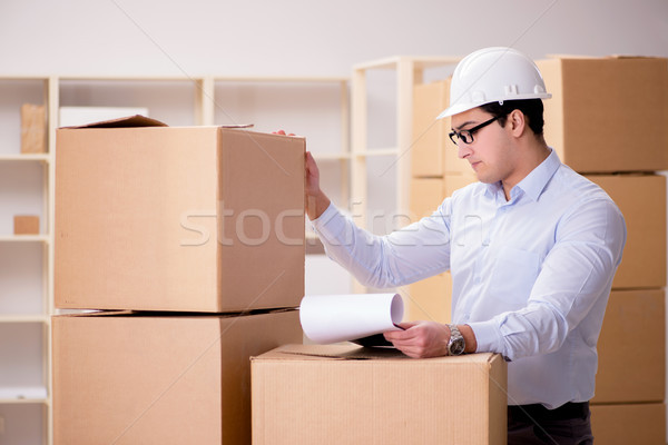 The man working in box delivery relocation service Stock photo © Elnur