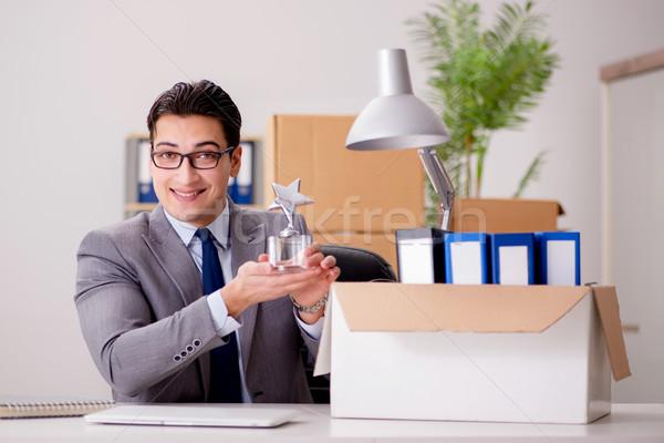 Businessman receiving star award in office Stock photo © Elnur