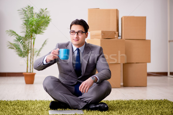 The businessman sitting on office floor Stock photo © Elnur