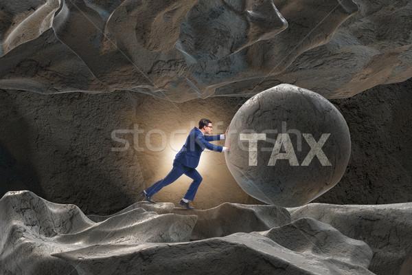 Stockfoto: Zakenman · hoog · business · papier · internet