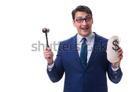 адвокат молоток деньги плохо изолированный Сток-фото © Elnur