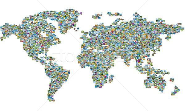 Stock foto: Weltkarte · Natur · Fotos · Himmel · Wasser · Bäume