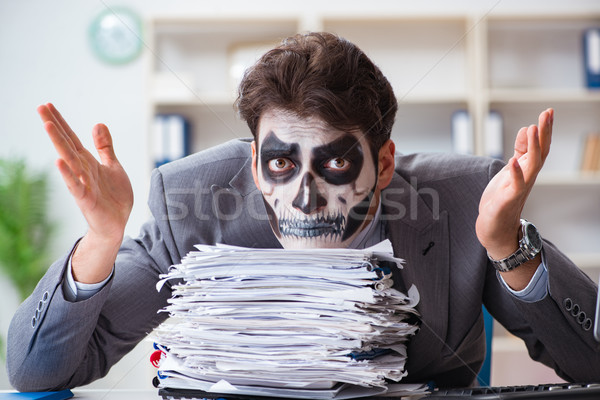 Effrayant visage masque travail bureau affaires Photo stock © Elnur