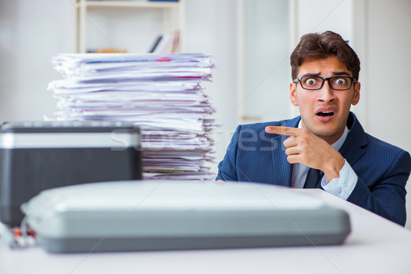 The businessman making copies in copying machine Stock photo © Elnur