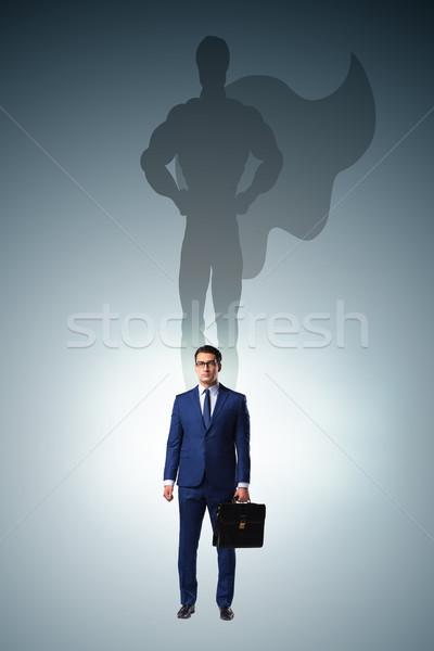 Empresário parede corporativo poder Foto stock © Elnur