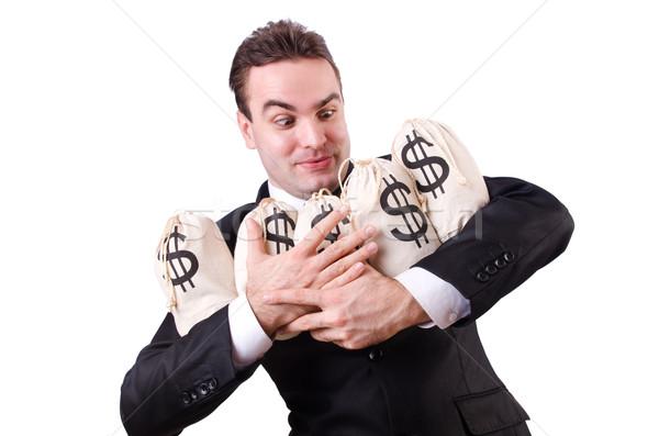 Stockfoto: Man · geld · blanke · man · business · kantoor · gezicht