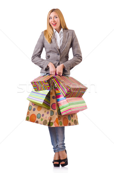 Young woman with bags after shopping Stock photo © Elnur