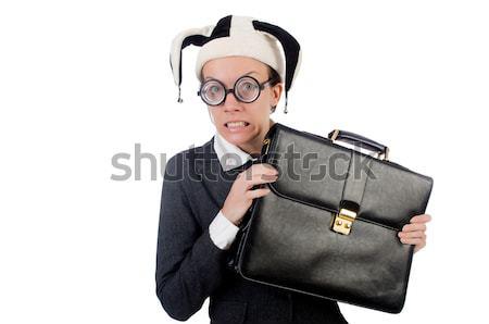 Divertente nerd imprenditore bianco business lavoro Foto d'archivio © Elnur