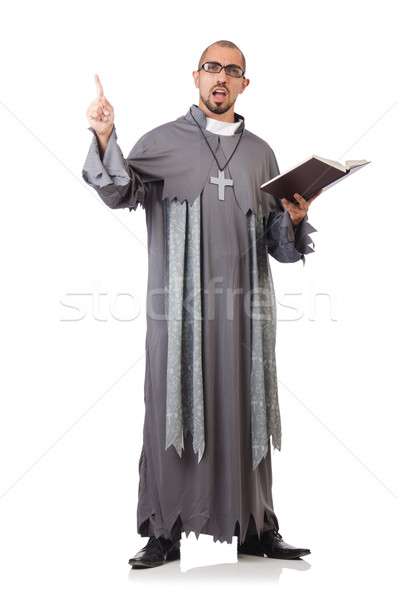 Young priest isolated on the white Stock photo © Elnur