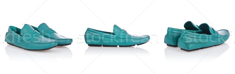 мужчины обувь изолированный белый фон синий Сток-фото © Elnur