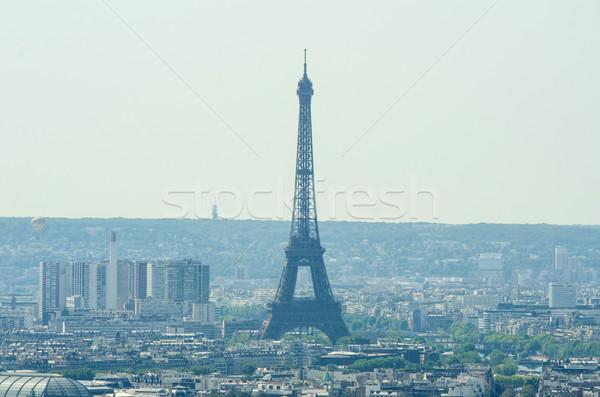 Ufuk çizgisi Paris parlak yaz gün gökyüzü Stok fotoğraf © Elnur