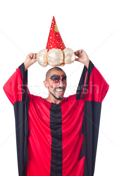 Wizard in red costume isolated on white Stock photo © Elnur