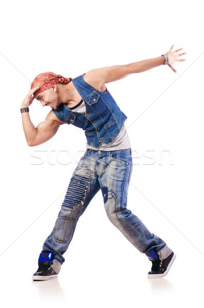Táncos tánc fehér férfi divat modell Stock fotó © Elnur