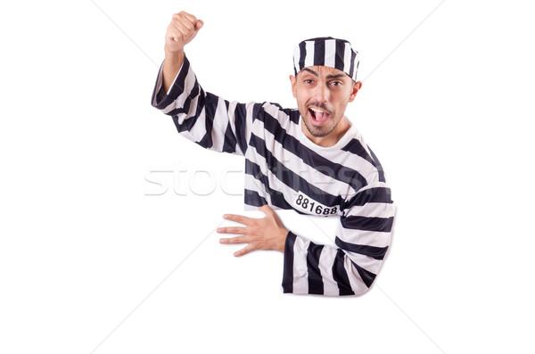 Verurteilt Verbrecher gestreift einheitliche Recht Polizei Stock foto © Elnur