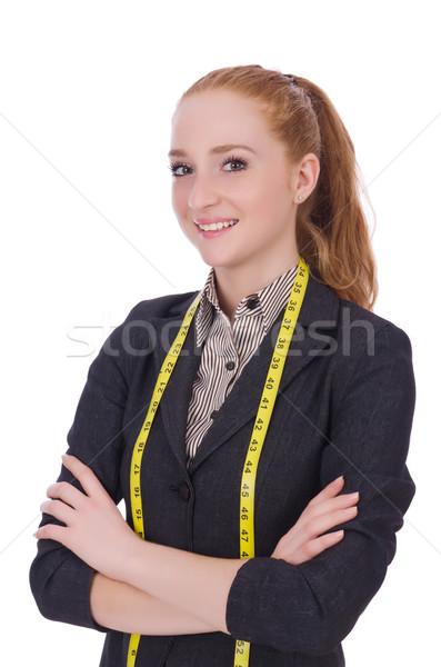 молодые портной изолированный белый женщину работу Сток-фото © Elnur
