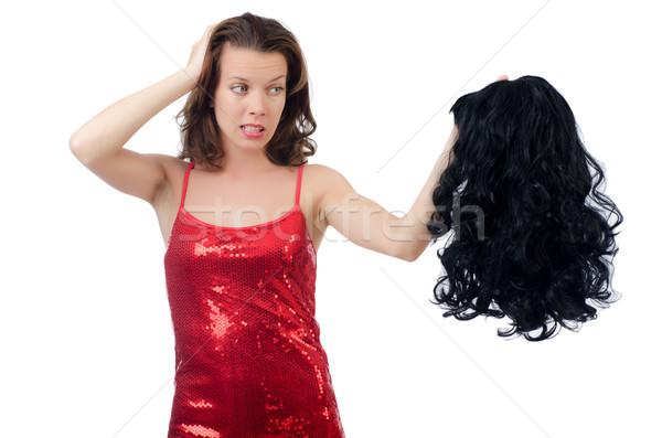 女性 かつら 孤立した 白 テクスチャ 髪 ストックフォト © Elnur