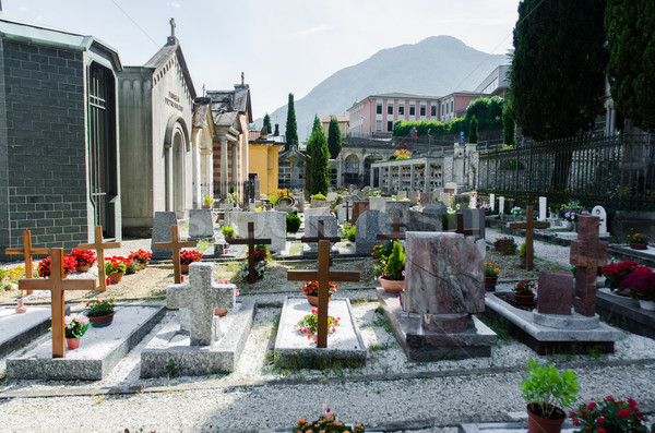 Small cemetery in Italy on summer day Stock photo © Elnur