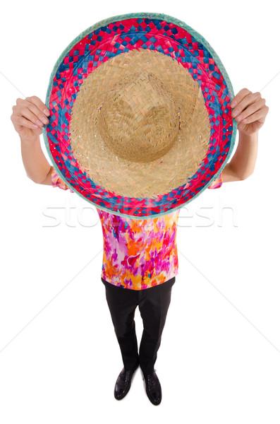 Engraçado mexicano sombrero seis festa homem Foto stock © Elnur