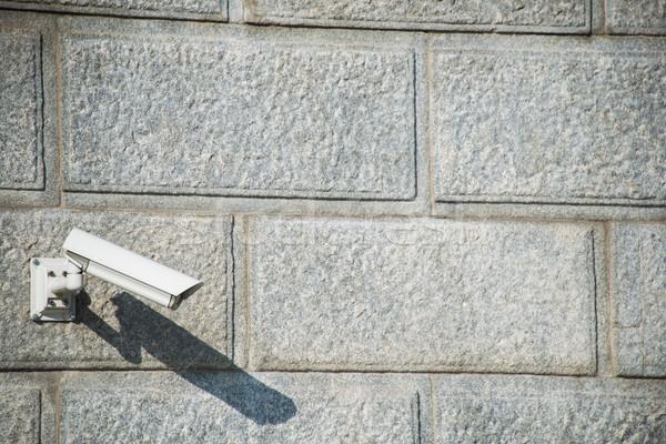 Cámara de seguridad adjunto pared negocios oficina calle Foto stock © Elnur