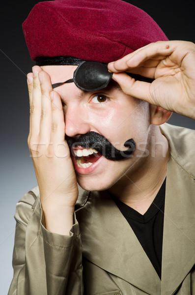 Drôle soldat militaire homme vert guerre Photo stock © Elnur