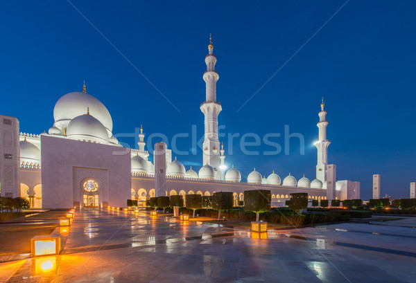 Sheikh Zayed Mosque in Abu Dabi Stock photo © Elnur