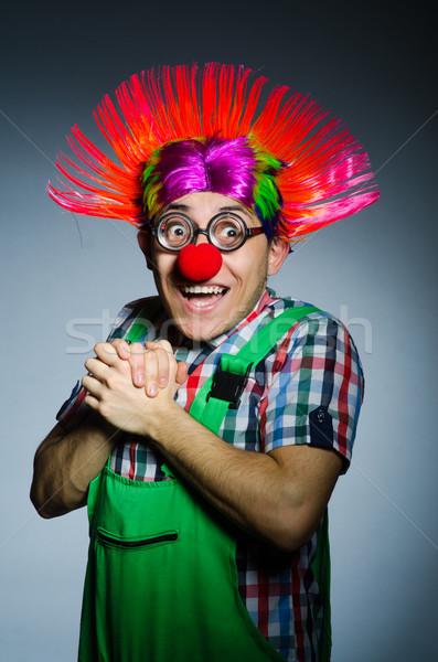 Grappig clown grijs partij Rood witte Stockfoto © Elnur