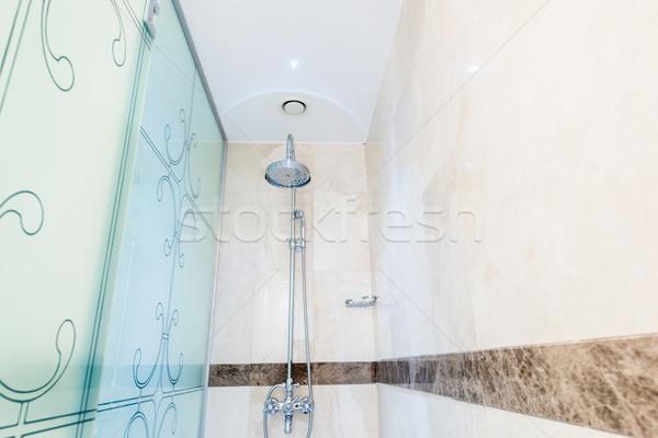 Moderno bagno interni vasca da bagno acqua salute Foto d'archivio © Elnur