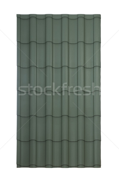 Stock photo: Roof tile isolated on the white
