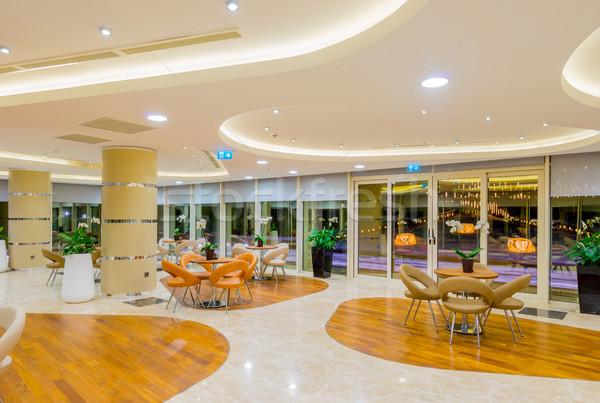 Interior of the modern restaraunt Stock photo © Elnur