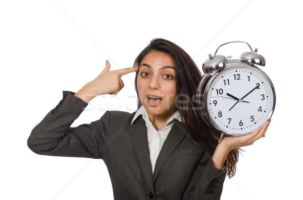 Empresária relógio desaparecido prazos mulher empresário Foto stock © Elnur