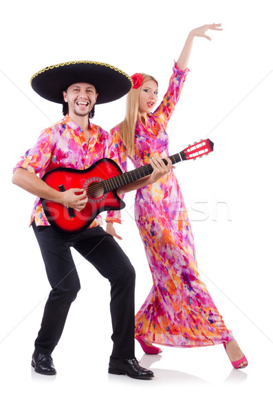 Espanol par jugando guitarra baile boda Foto stock © Elnur